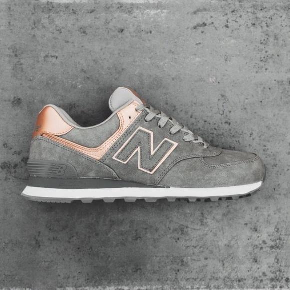 wholesale dealer 57fd2 a6faa New Balance 574 Precious Metals Grey Sneakers